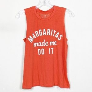 Margaritas made me do it muscle tee small